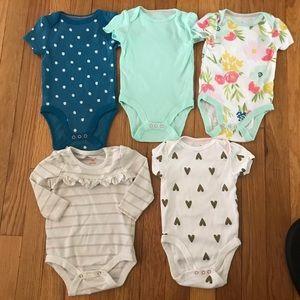 Bundle of 5 Cute Bodysuits